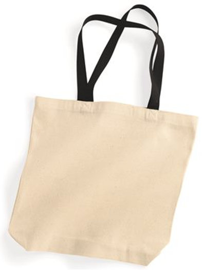 Liberty Bags - 10 Ounce Gusseted Cotton Canvas Tote with Colored Handle - 8868
