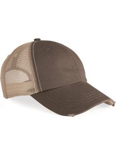 Mega Cap - Frayed-Bill Twill Cap - 6887