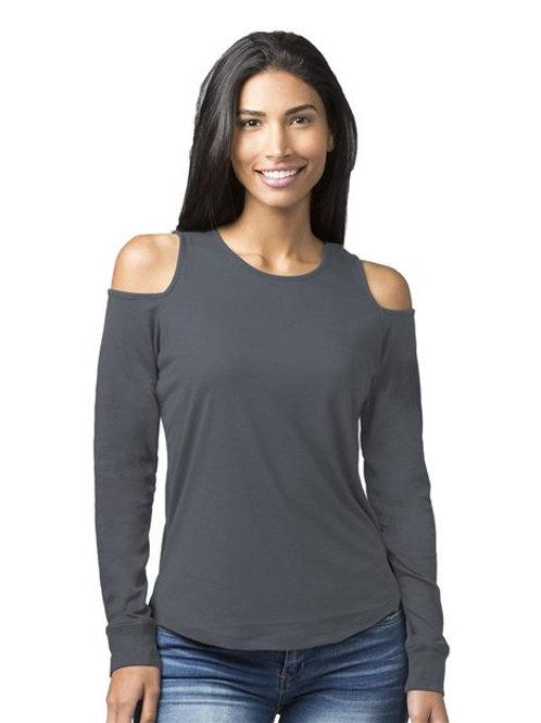 Boxercraft - Women's Cold Shoulder Long Sleeve T-Shirt - T31