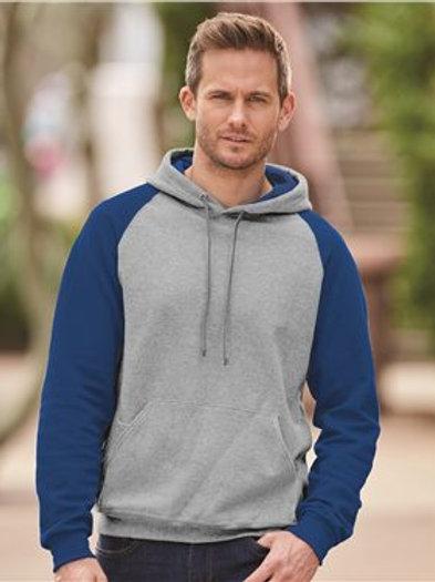 Jerzees - Nublend Colorblocked Raglan Hooded Sweatshirt - 96CR