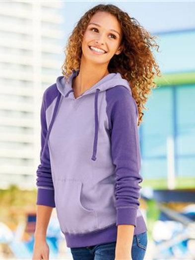 MV Sport - Women's Harper Raglan Hooded Pullover Sweatshirt - W17127