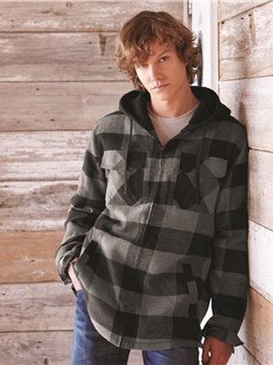 Burnside - Quilted Flannel Full-Zip Hooded Jacket - 8620