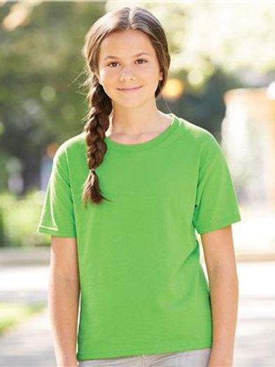 JERZEES - Dri-Power® Youth 50/50 T-Shirt - 29BR Jade-White