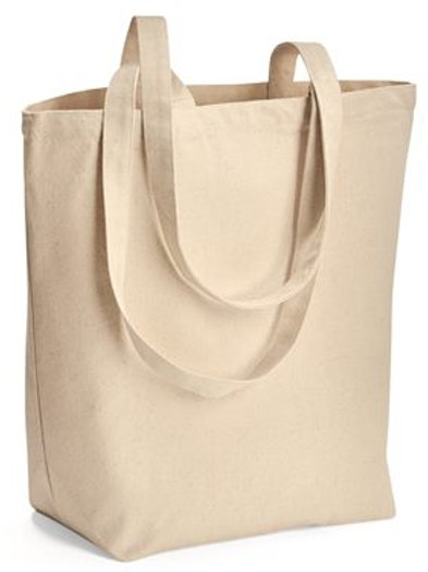 Liberty Bags - Large Gusseted Cotton Canvas Tote - 8866