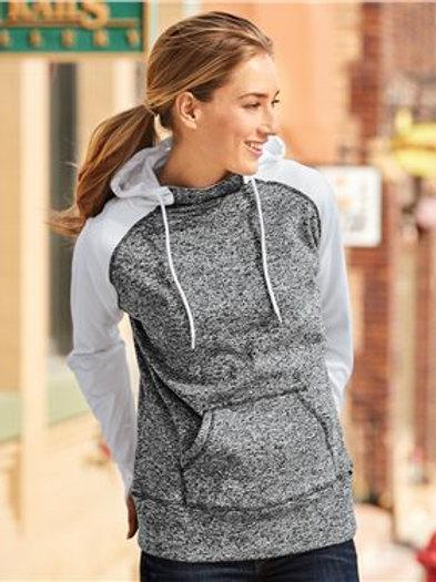 J. America - Women's Colorblocked Cosmic Fleece Hooded Sweatshirt - 8618