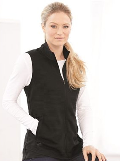 Adidas - Women's Lifestyle Textured Full-Zip Vest - A417