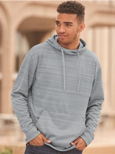 J. America - Odyssey Striped Performance Fleece Hooded Sweatshirt - 8661