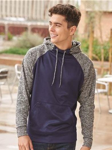 J. America - Colorblock Cosmic Fleece Hooded Sweatshirt - 8612