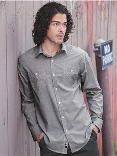 Burnside - Mini-Check Long Sleeve Shirt - 8257