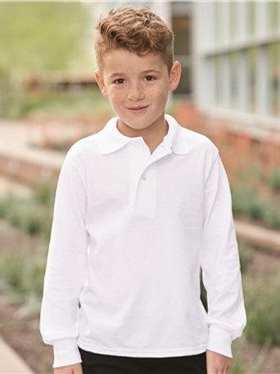 Jerzees - SpotShield Youth Long Sleeve Sport Shirt - 437YLR