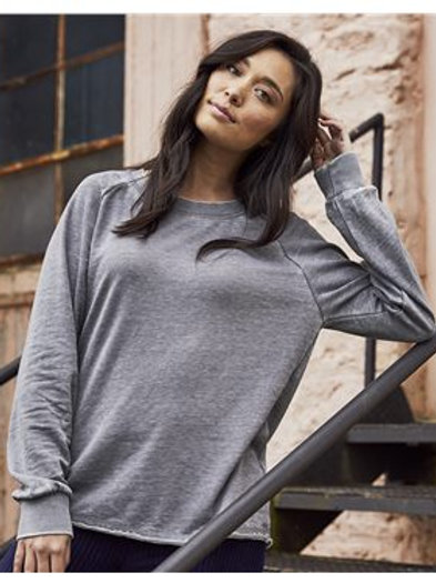 Alternative - Women's Lazy Day Burnout French Terry Crewneck Sweatshirt - 8626