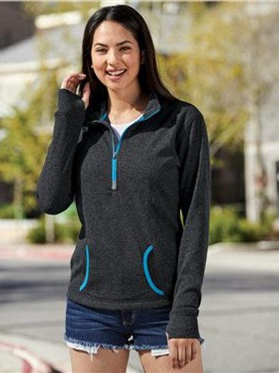 J. America - Women's Cosmic Fleece Quarter-Zip Pullover - 8617