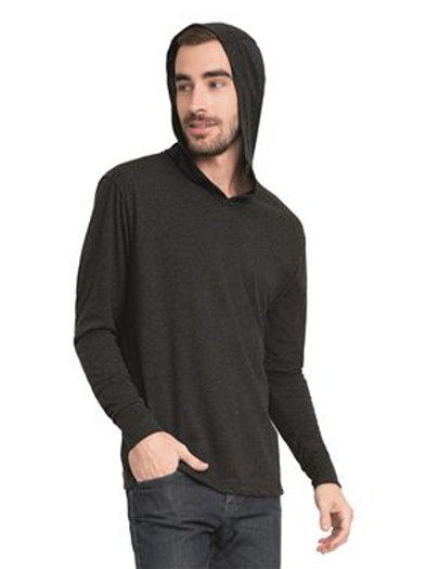 Next Level - Unisex Sueded Hooded Zip Tee - 6491