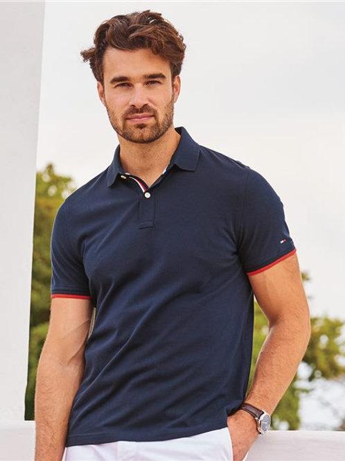 Tommy Hilfiger - Sanders Tipped Cotton Piqué Sport Shirt - 13H2150