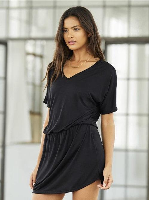 BELLA + CANVAS - Women's Flowy V-neck Dress - 8812