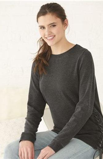 Boxercraft - Women's Enzyme-Washed Rally Lace-Up Sweatshirt - V03