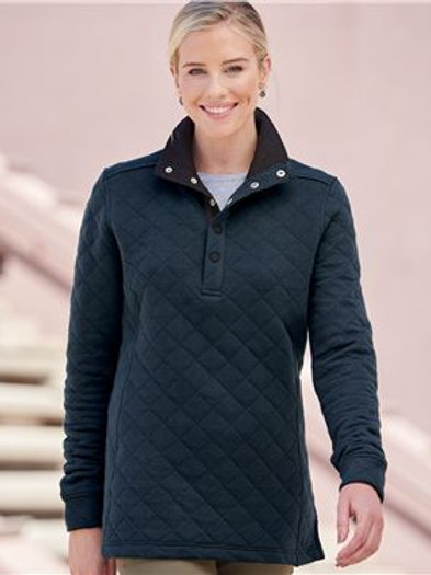 J. America - Women's Quilted Snap Pullover - 8891