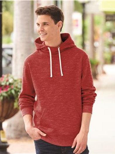J. America - Melange Fleece Hooded Sweatshirt - 8677