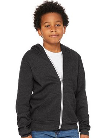 BELLA + CANVAS - Youth Sponge Fleece Full-Zip Hoodie - 3739Y