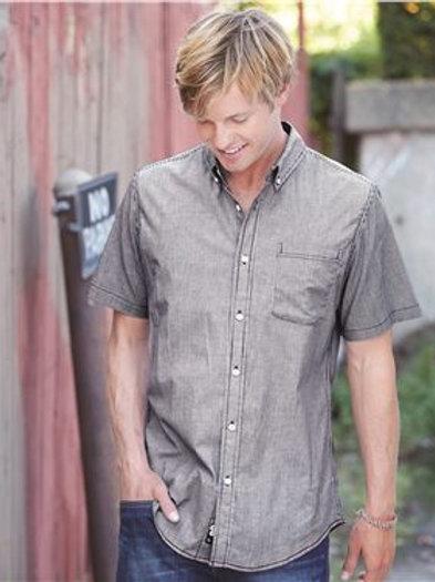 Burnside - Stretch-Stripe Short Sleeve Shirt - 9259
