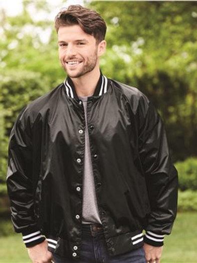 Augusta Sportswear - Satin Baseball Jacket Striped Trim - 3610