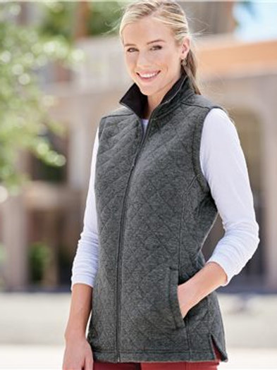 J. America - Women's Quilted Full-Zip Vest - 8892