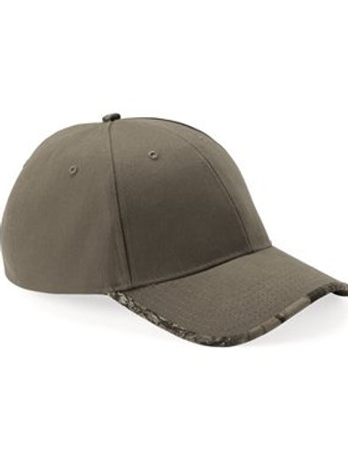 Kati - Solid Cap with Camouflage Bill - LC26
