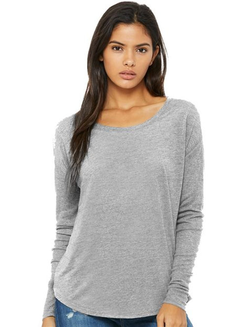 BELLA + CANVAS - Women's Flowy 2x1 Ribbed Long Sleeve Tee - 8852