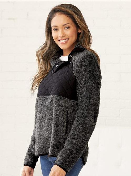 Boxercraft - Women's Quilted Fuzzy Fleece Pullover - FZ06
