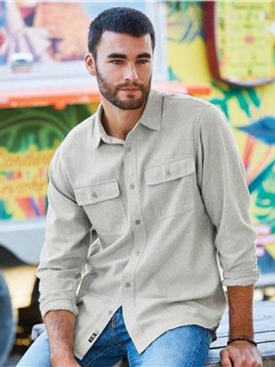 Burnside - Long Sleeve Solid Flannel Shirt - 8200