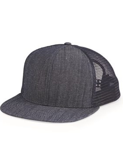 Mega Cap - Flat Bill Six-Panel Trucker Cap - 6997B