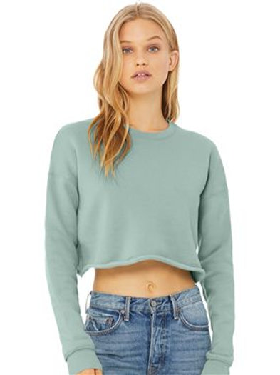 BELLA + CANVAS - Women's Cropped Crew Fleece - 7503