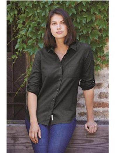 Weatherproof - Women's Vintage Brushed Flannel Solid Shirt - W198306