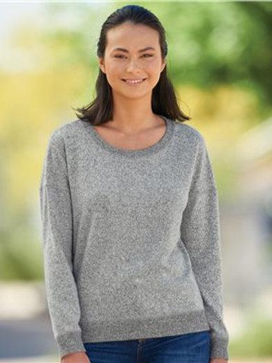 J. America - Women's Cozy Jersey Crewneck Sweatshirt - 8658