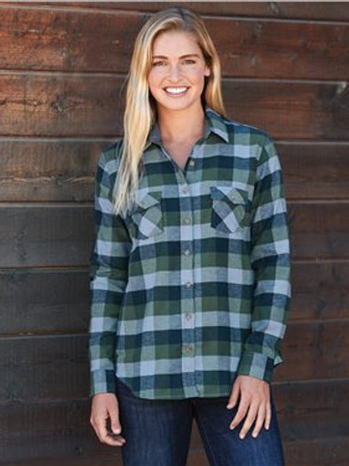 Weatherproof - Women's Vintage Brushed Flannel Long Sleeve Shirt - W164761