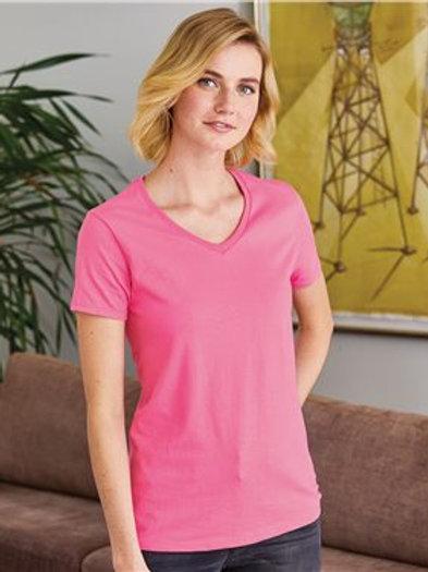 Hanes - ComfortSoft® Women's V-Neck Short Sleeve T-Shirt - 5780