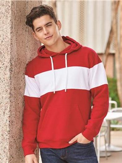 J. America - Varsity Fleece Colorblocked Hooded Sweatshirt - 8644