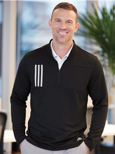 Adidas - 3-Stripes Double Knit Quarter-Zip Pullover - A482