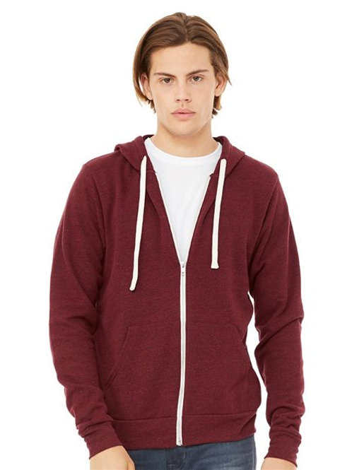 BELLA + CANVAS - Unisex Triblend Sponge Fleece Full-Zip Hoodie - 3909