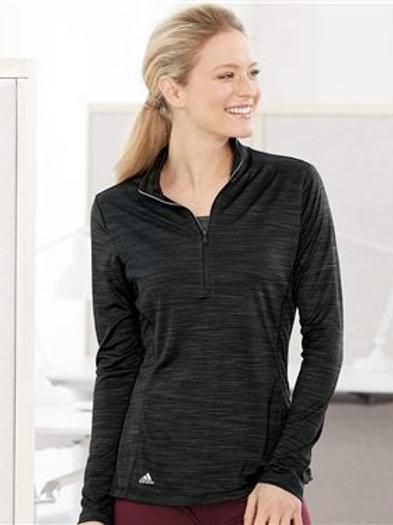 Adidas - Women's Lightweight Melange Quarter-Zip Pullover - A476