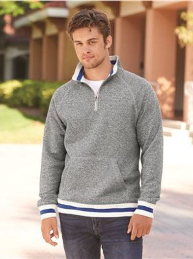 J. America - Peppered Fleece Quarter-Zip Sweatshirt - 8703