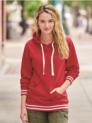 J. America - Relay Women's Hooded Pullover Sweatshirt - 8651