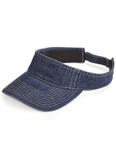 Mega Cap - Washed Denim Visor - 4029