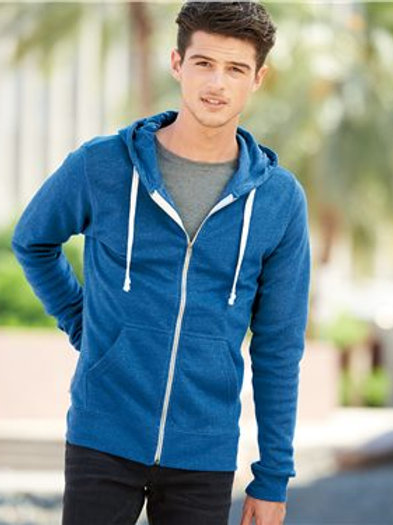J. America - Triblend Hooded Full-Zip Sweatshirt - 8872