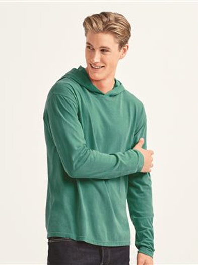 Comfort Colors - Garment-Dyed Heavyweight Hooded Long Sleeve T-Shirt - 4900