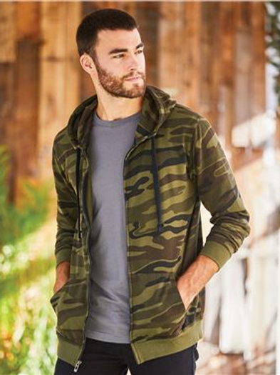 Burnside - Camo Hooded Full-Zip Sweatshirt - 8615
