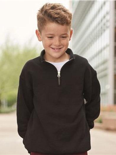 Jerzees - Nublend Youth Quarter-Zip Cadet Collar Sweatshirt - 995YR