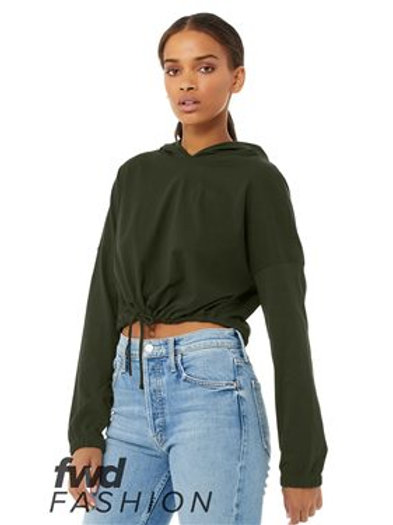 BELLA + CANVAS - FWD Fashion Women's Cinched Cropped Hoodie - 6512
