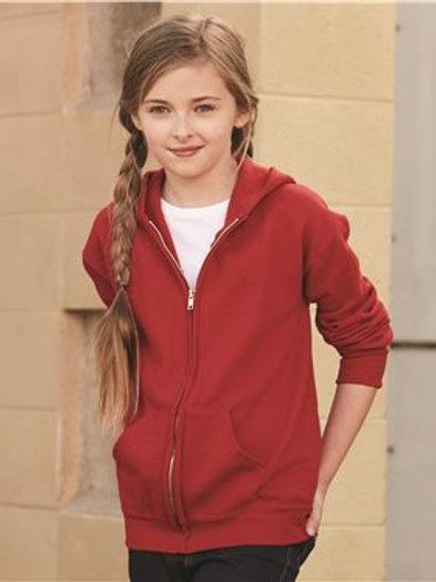 Jerzees - NuBlend Youth Full-Zip Hooded Sweatshirt - 993BR