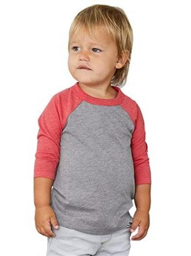 BELLA + CANVAS - Toddler Three-Quarter Sleeve Baseball Tee - 3200T